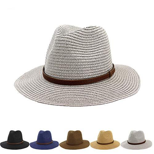 Womens Mini Straw Boater Hat Fedora Panama Flat Top Ribbon Summer Straw hat hat Jazz hat Sunhat -