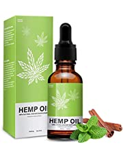Hemp Oil Extract Drops for Pain Relief - 5000 MG Anti Anxiety, Promotes Relaxation, Organic Natural Hemp Seed Oil with Omega 6, 9 Fatty Acids - 30ml