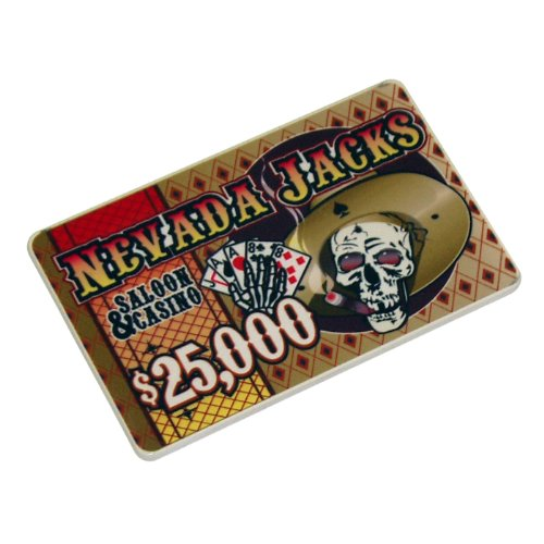 Nevada Jacks Casino Ceramic Poker Chip Plaque - - Plaque Ceramic Chip Poker