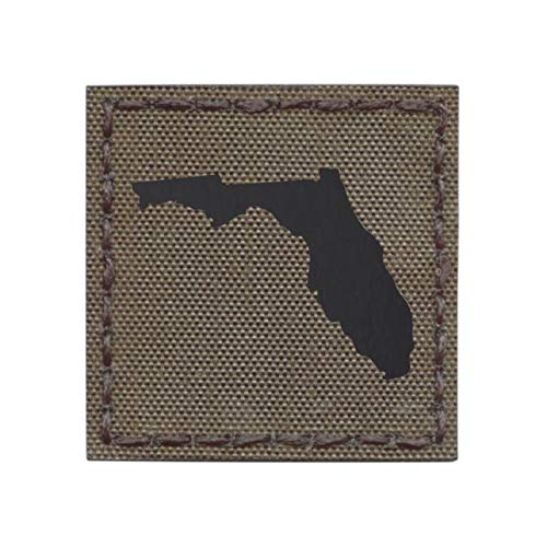 - IR Ranger Green Florida State 2x2 Cutout Shape Infrared Tactical Morale Touch Fastener Patch