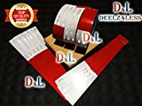 24 Ft (16 Strips) DOT-C2 Conspicuity Reflective Tape | 7'' White & 11'' Red PREMIUM QUALITY Safety Warning Trailer Truck Boat RV Bus