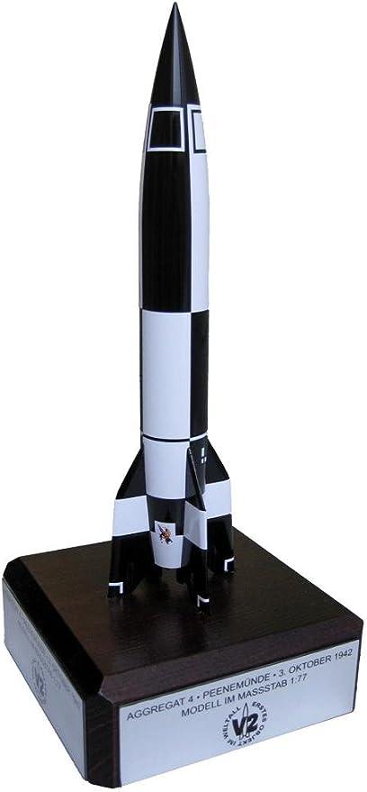 Aggregat 4// V-2 Model Rocket Black and White Solid Steel