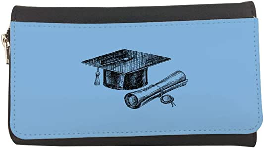 Graduation Day Logo Printed Leather Case Wallet
