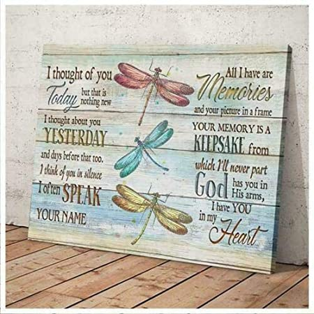 Dragonflies I Thought Of You Today But That Is Nothing New Poster No Framed