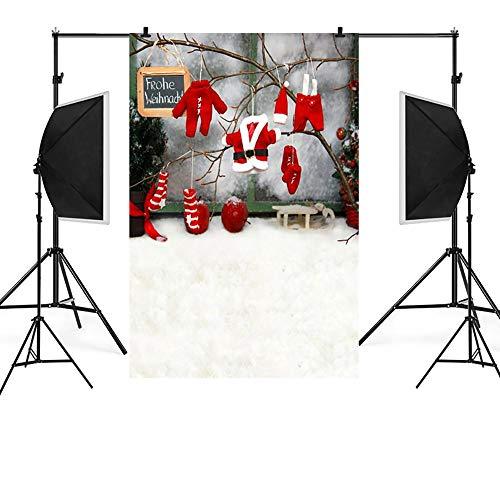MSOO Christmas Backdrops Snow Vinyl 3x5FT Background Photography Studio (I)