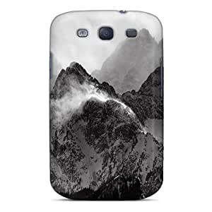 New Fashion Premium Tpu Case Cover For Galaxy S3 - Monochrome Mountains