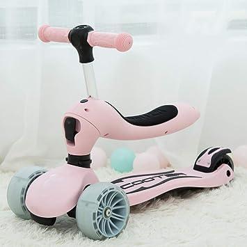 Patinete para Niño 3 En 1 para Niños Scooter Plegable Carro ...