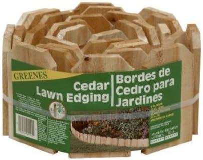 Greenes Lawn Edging 6 X 10 Cedar Bulk