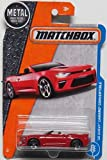 Matchbox 2017 MBX Adventure City '16 Chevy Camaro Convertible 2/125, Red