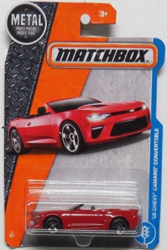 Matchbox 2017 MBX Adventure City '16 Chevy Camaro Convertible 2/125, Red (Chevy Camaro Cross)