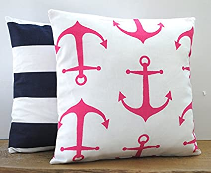 Amazon.com: One Rosa Anchor Nautical y One Azul Marino ...