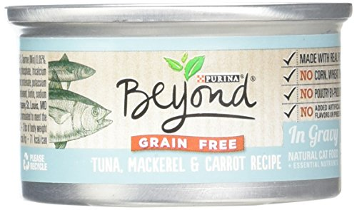 Purina Beyond Natural Canned Cat Food, Grain Free, Tuna, Mackerel and Carrot Recipe, 3-Ounce Can, Pack of 12 Review
