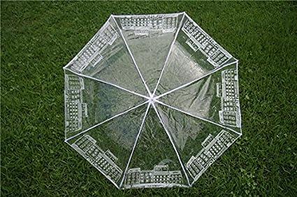 Paraguas Transparente Paraguas Transparente Ultra-Ligero Hombre Y Mujer Paraguas Plegable Creativo (Color :
