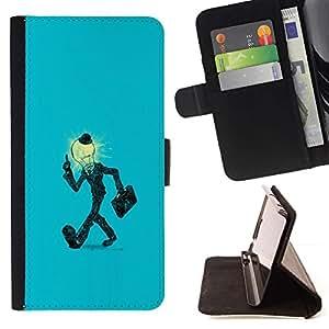 Momo Phone Case / Flip Funda de Cuero Case Cover - Bombilla Hombre en juego;;;;;;;; - Motorola Moto E ( 2nd Generation )