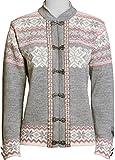 Norlender Norwegian 100% Wool Voss Cardigan Sweater w/ FREE Norlender 100% Wool Scarf … (M, Grey)
