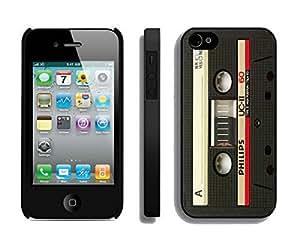 DIY Audio Cassette Iphone 4 Case Black 4s Cover Classic Mobile Accessories Protector