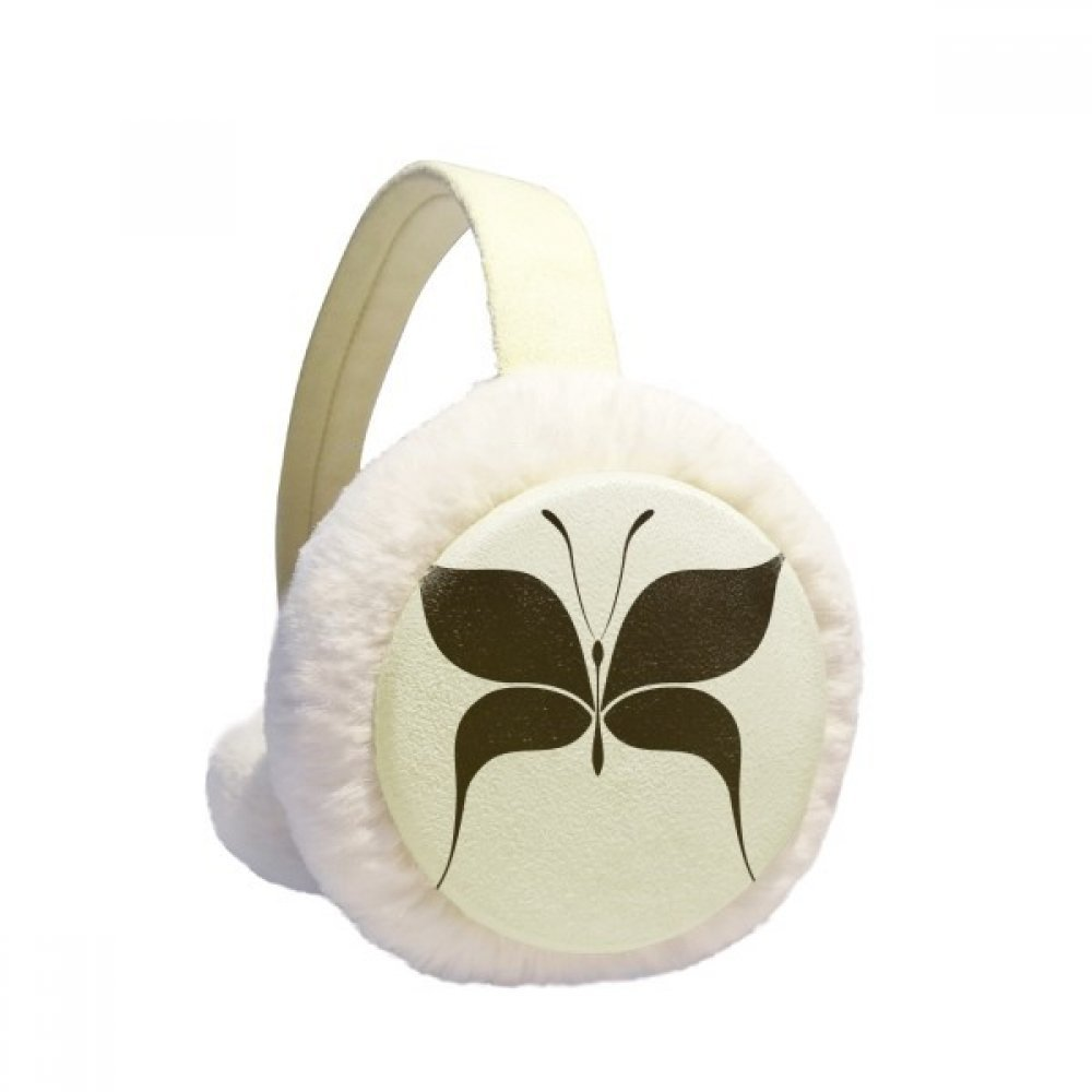 Fairy Black Butterfly Winter Earmuffs Ear Warmers Faux Fur Foldable Plush Outdoor Gift