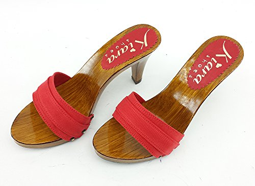 kiara shoes Clogs Red Made In ITALY-K6101 Red rhzXVX1