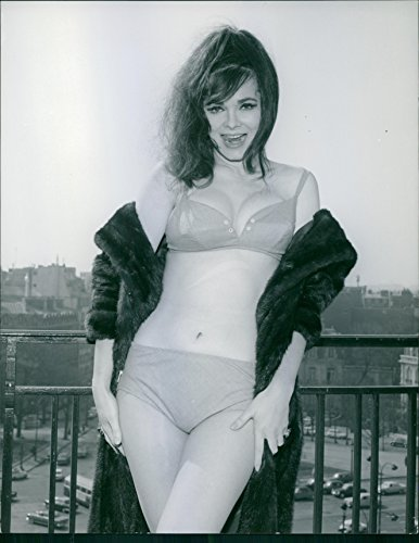 Israeli Fashion (Vintage photo of A photo of Polish-born, Israeli former fashion model and actress Gila Golan in her beautiful pose as a model of a garment.)