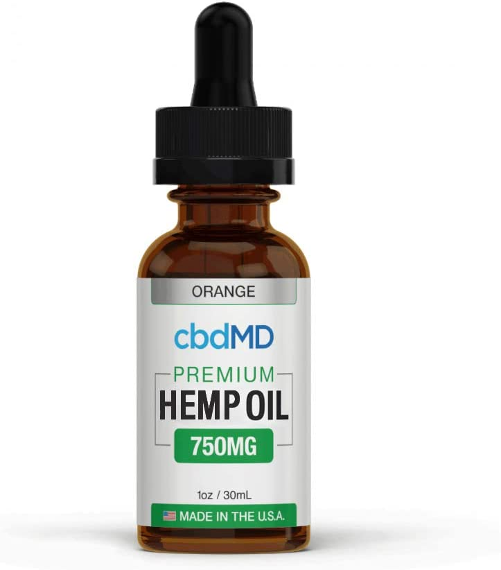 CBDMD Oil Tincture Drops for Anxiety Orange Flavour