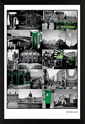 Dublin Collage Ireland Scenic Photography Poster Print  24X36 Framed Poster