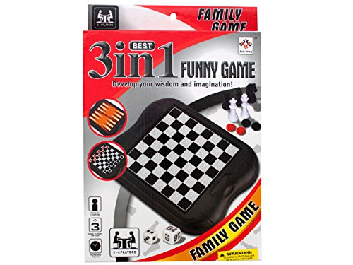 Bulk Buys 3 in 1 classic game set (Set of 24) by bulk buys