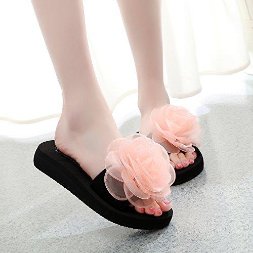 Arancione Qingchunhuangtang Con Piatto Pantofole Fondo Spesso Sandali Antislittamento Raffreddare Le Sul Pantofole E Fondo E 6r56wxq4