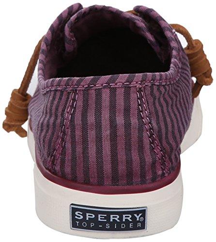 Sperry Top-sider Vrouwen Zeekust Gestreepte Oxford Fashion Sportschoen Bordeaux