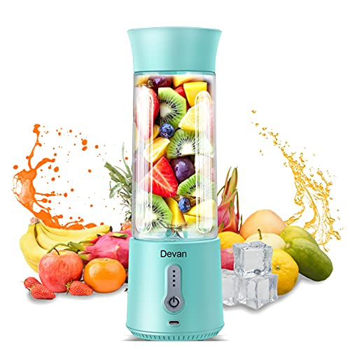 Upgraded Version Portable Blender, 16.9 Oz Personal Size Blender, Juicer Cup for Juice, Crushed Ice, Smoothies and…