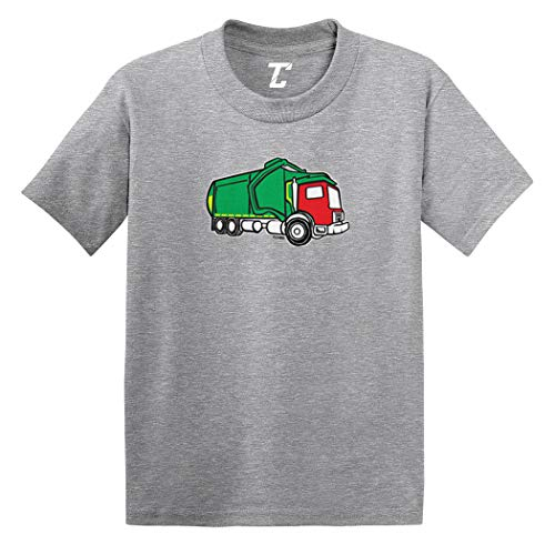 Garbage Truck - Trash Messy Dirty Infant/Toddler Cotton Jersey T-Shirt (Light Gray, 24 Months)
