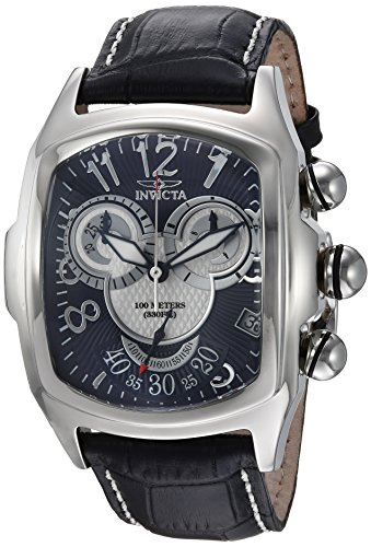 - Invicta Men's Disney Limited Edition Stainless Steel Quartz Watch with Leather Calfskin Strap, Black, 24 (Model: 24525)