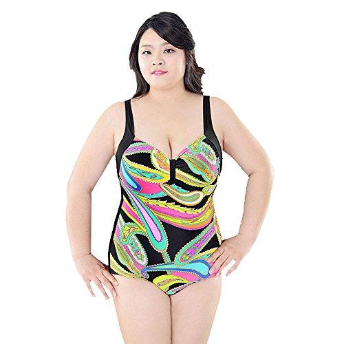 SHISHANG Las mujeres bikini traje de baño de cuerpo Europa y el complejo de aguas termales traje de baño de alta elasticidad de Protección Ambiental de Estados Unidos 3
