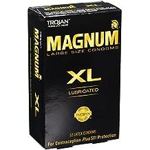 Trojan Magnum Xl Lubricated Condoms, 12 Count