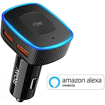 Roav VIVA, by Anker, Alexa-Enabled 2-Port USB Car Charger for In-Car Navigation, Hands-Free Calling and Music Streaming. iPhone Users: Update to the latest iOS (11.4) (single item)