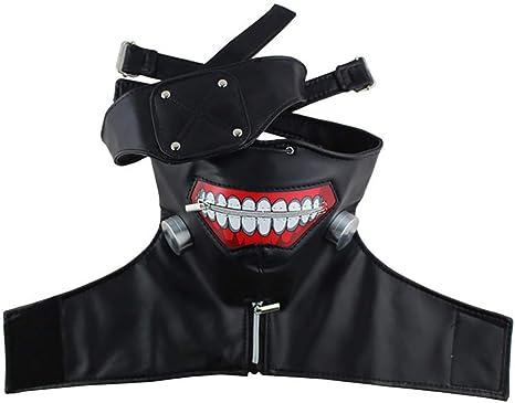 YF Peluca Máscara Tokyo Ghoul de Ken Kaneki Cremallera Ajustable ...