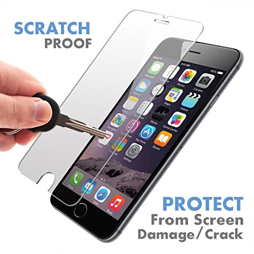 iPhone 6S / 6 ? PREMIUM QUALITY ? Tempered Glass Screen Protector by Voxkin - Top Quality Invisible Protective Glass for iPhone 6 - Scratch Free, Perfect Fit & Anti Fingerprint - Crystal Clear HD Display (Girly Cell Phone Accessories compare prices)