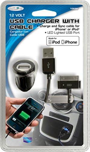 MINI USB CHARGER W//I PHONE CORD