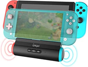 ElecGear Portable Speaker Dock for Nintendo Switch, Charger Dock with Stereo Speaker Docking Station, Desktop Holder and USB C Charging Stand Compatible with N-Switch and Switch Lite