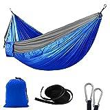 RGOSIM STARCS Comfortable Hammock Outdoor Double Adult Indoor Sleeping Leisure Camping Portable Swing Single Parachute Chair Lazy Nylon Fabric