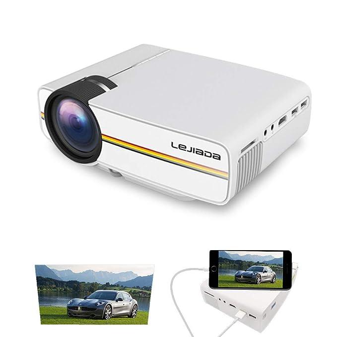 Zichen Proyector Mini proyector portátil Proyector de Video LED ...