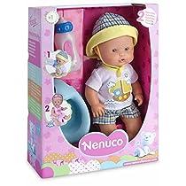 Famosa - Muñeco bebé con botellas y orinal azul (FAMPP)
