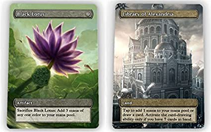 Amazoncom Universal Complete Power 9 Set Full Art Borderless