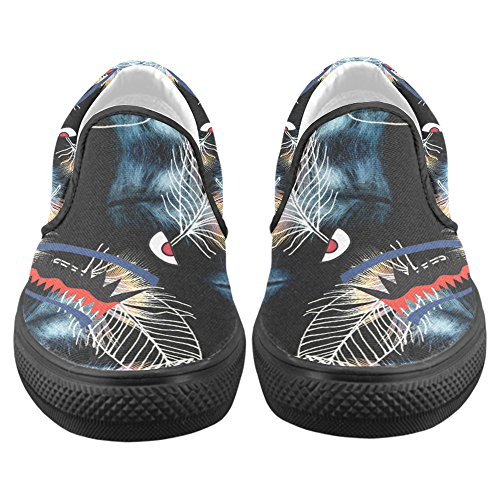 On Shark6 Shark Story Canvas Slip Shoes Custom Mens Teeth Sneaker D 0RPvwSq0