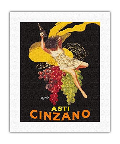 Pacifica Island Art Asti Cinzano - Asti Spumante - Italian Sparkling White Wine - Vintage Advertising Poster by Leonetto Cappiello c.1910 - Fine Art Rolled Canvas Print - 16in x 20in