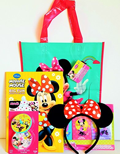 Disney Minnie Mouse Gift Set with Minnie Mouse Ears, Spinning Tops, Tote Bag & (Halloween Activities For Kindergarten Writing)