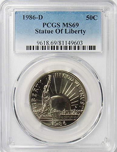 1986 D Statue Of Liberty Commemorative Half Dollar 50 MS69 PCGS ()