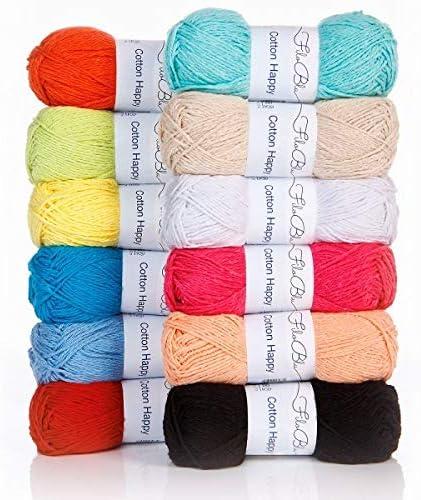 Cotton Happy - Ovillo de lana (50 g), color azul: Amazon.es ...