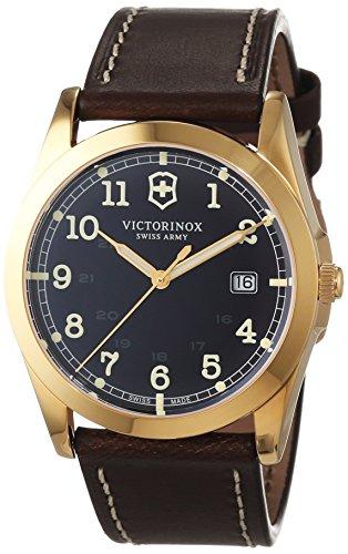 Victorinox Swiss Army 241645 – Reloj para hombres, correa de cuero color marrón