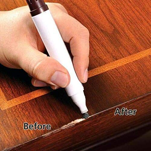 Weite 3 Pieces Furniture Repair Marker Set, Wood Stain Scratch Fix Pen for Stains, Scratches, Wood Floors, Tables, Desks, Carpenters, Bedposts, Touch Ups (B) by Weite (Image #3)