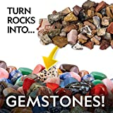 NATIONAL GEOGRAPHIC Rock Tumbler Refill – 5 Pound Mix of Rocks and Gemstones for Rock Tumblers, Includes Agate, Jasper, Petrified Wood, Gemstone, and More, 5 Jewelry Settings and Polishing Grit